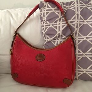 VTG Dooney Bourke Crescent Sac Hobo Bag-Red AWL